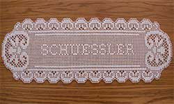 Crochet Patterns Names : FILET CROCHET NAME DOILIES PATTERN - Crochet and Knitting Patterns