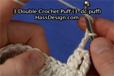 3 Double Crochet Puff (3-dc puff)