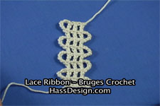 Bruges Crochet - How to Crochet Lace Ribbon Video