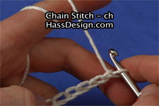 Chain Crochet Stitch Video