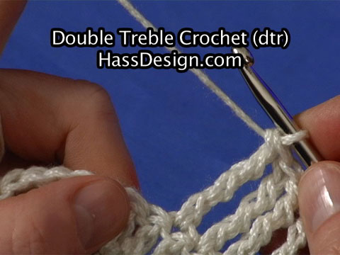 Double Treble Crochet Stitch Video