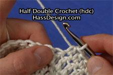 Half Double Crochet Stitch Video