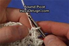 Round Picot Crochet Stitch Video