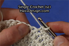Single Crochet Stitch Video
