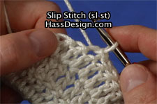 Slip Stitch Crochet Stitch Video