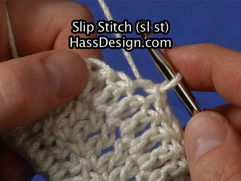 Crochet Stitches Slip Stitch : Slip Stitch Crochet - Stitch Video