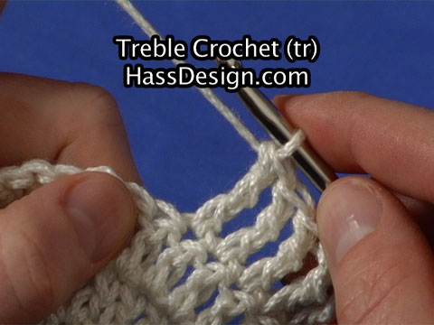 Crochet Stitches Triple : Actual size of Stitch Video (for high-speed connections)