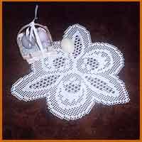 Vintage Crochet DAFFODIL Flower DOILY Motif Pattern
