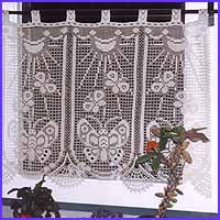 Free Crochet Edging Patterns For Curtains : 5 HassDesign Filet Crochet CURTAIN Patterns - signed bk eBay