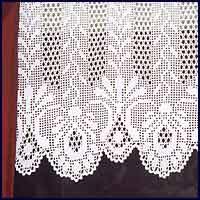 Filet Crochet Designs » Filet Crochet Patterns – Curtains