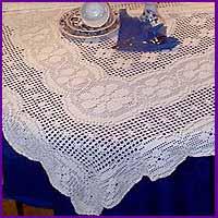 Crochet Tablecloth Patterns - Elegant Tablecloths - in Filet Crochet