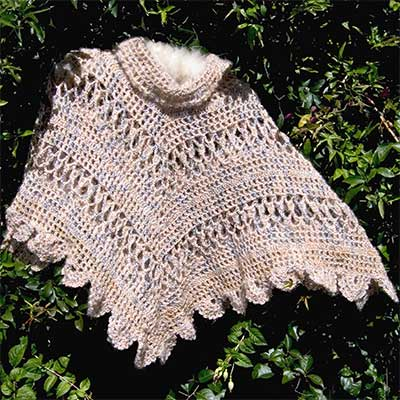 Crocheted Poncho Patterns - Sierra Poncho Pattern
