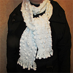 Crocheted Snow White Scarf Pattern