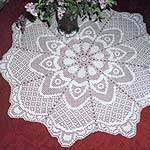 Instant-Print Table topper crochet pattern