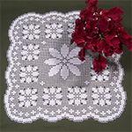 Vintage Square Grape Doily Pattern [PB052] - $5.99 : Maggie Weldon