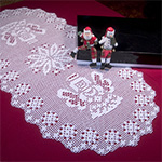 Angel Oval Doily Crochet Pattern