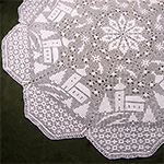Filet Crochet Tea Cloth Crochet Pattern Tablecloth