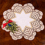 Instant-Print Doily Pattern with Linen Center in Filet Crochet